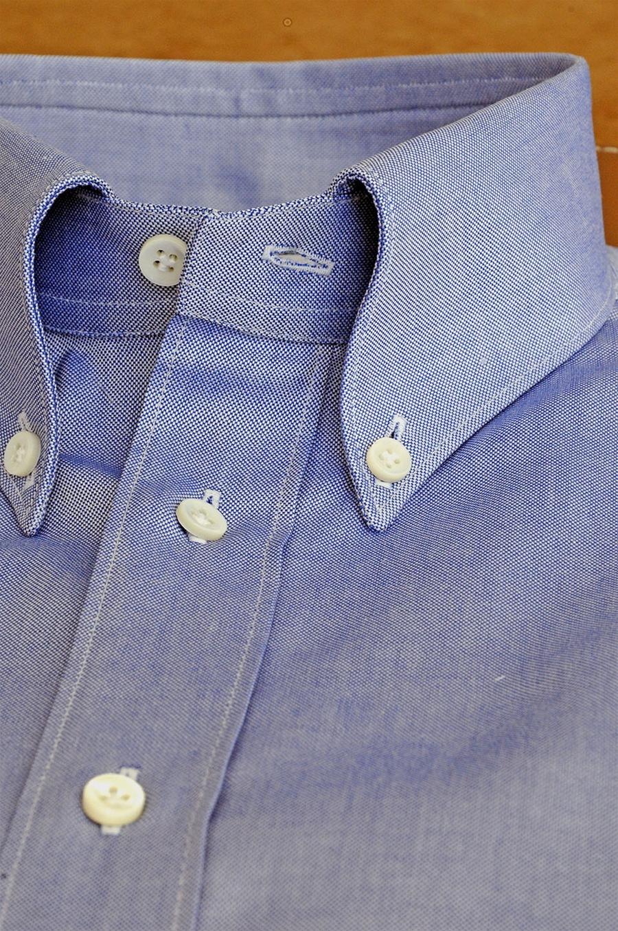 info for 441f5 45bd9 Camicia Azzurro Motivo Unito Tessuto Cotone Per Uomo su Misura