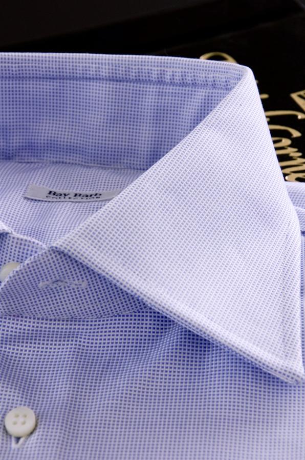 best website c4b18 87498 Camicia Su Misura tessuto Oxford Monti giro inglese celeste
