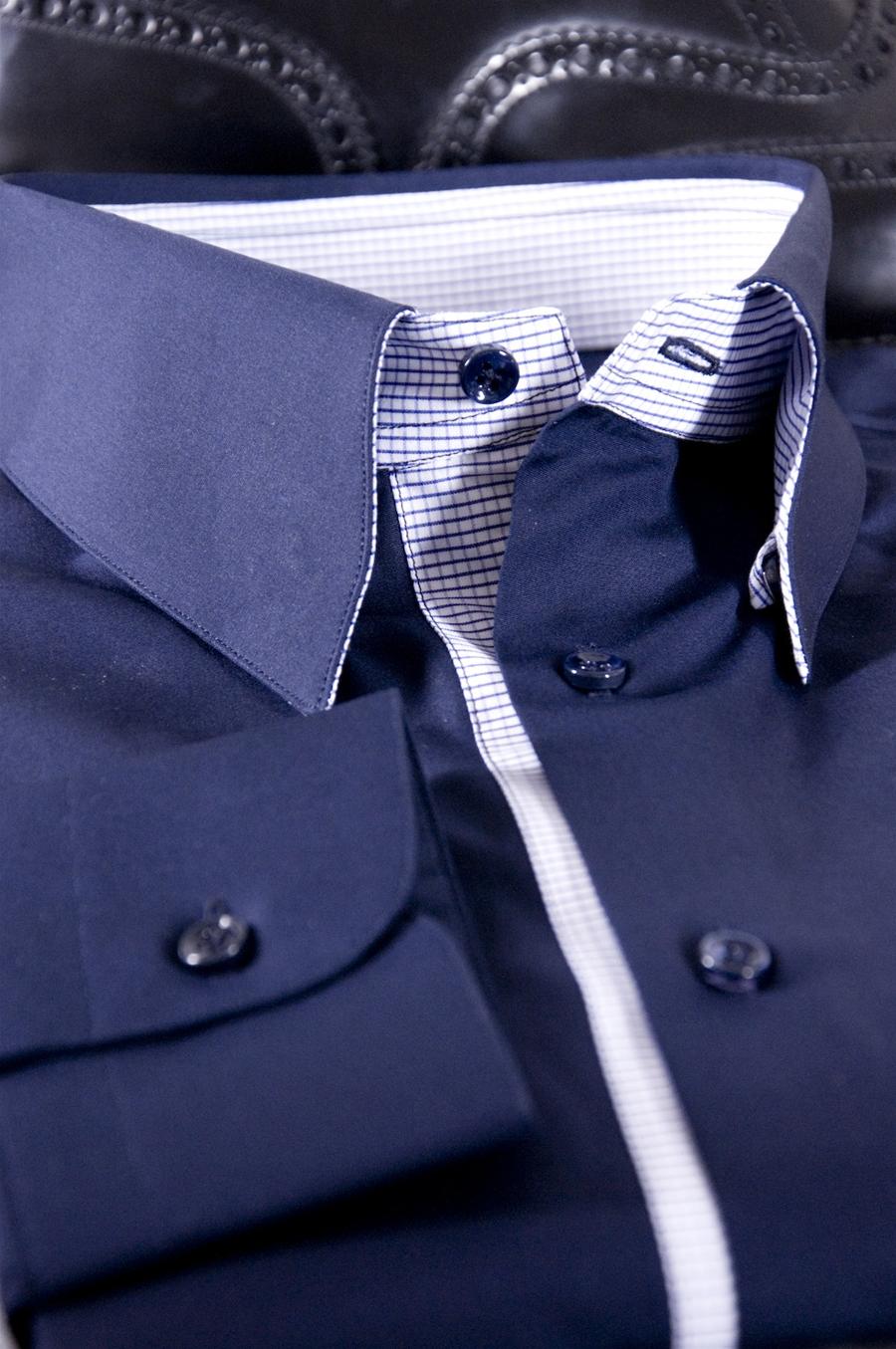 best service 143da 51067 Camicia Su Misura tessuto Popeline Monti unito blu modello Blu Ray 2012