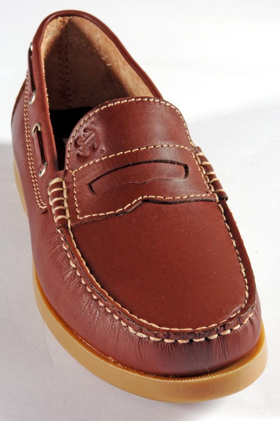mod artigianale in pelle Barca Scarpa Vitello mocassino di RpnS515wqx