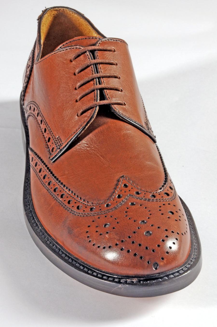 half off e8993 dbf17 Scarpa Artigianale mod. Duilio in Vitello Marrone Forma 43